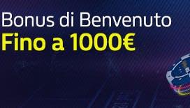 <strong>Bonus benvenuto William Hill: ricevi un bonus fino a 1000 euro sul tuo primo deposito!</strong>