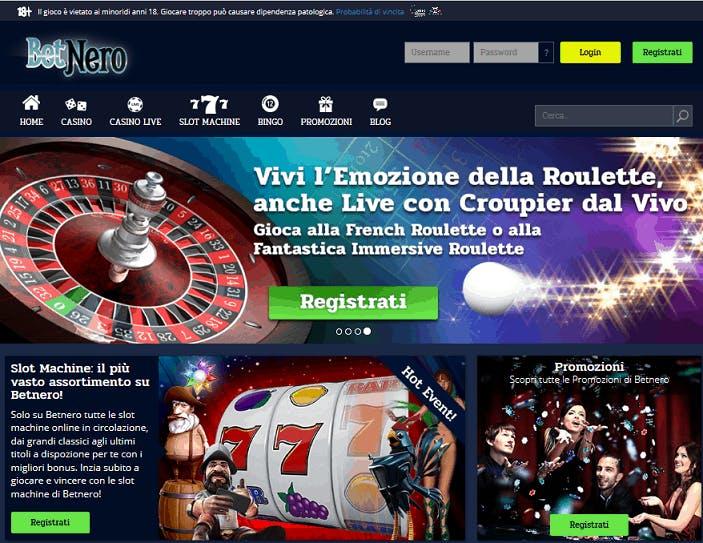 Betnero casino homepage