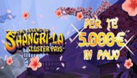 Promozione Gioco Digitale: 5.000€ in palio con la slot The Legend of Shangri La