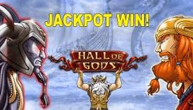 Vincita milionaria alla slot NetEnt Hall of Gods