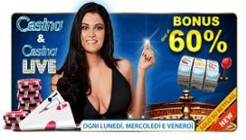 Betflag casino: bonus cashback