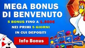 Bonus di Benvenuto BetNero casino: 100% fino a 1.300€ di bonus