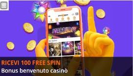 Bonus benvenuto Gioco Digitale: effettua un deposito e ricevi 100 giri gratis per le slot!