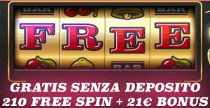 Bonus senza deposito casino21