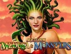 Age of the Gods Medusa & Monsters logo