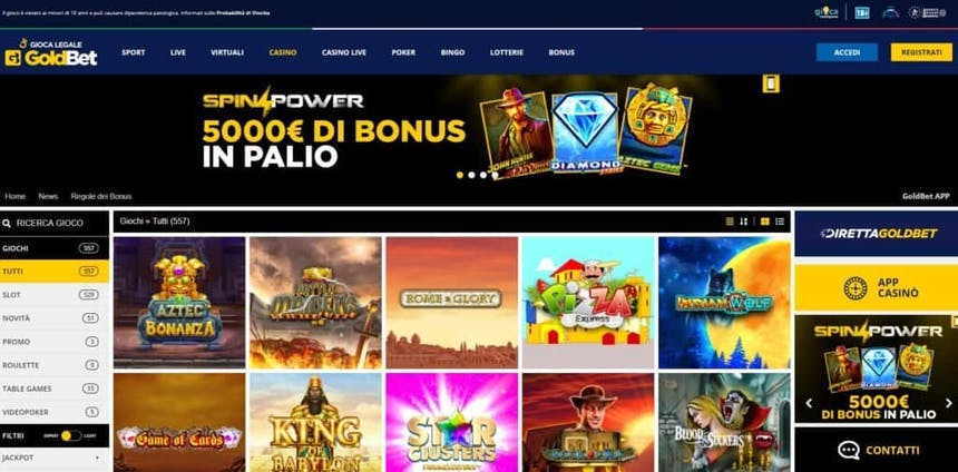 Slot online con Goldbet