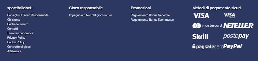 Opzioni de pagamento di SportItaliaBet