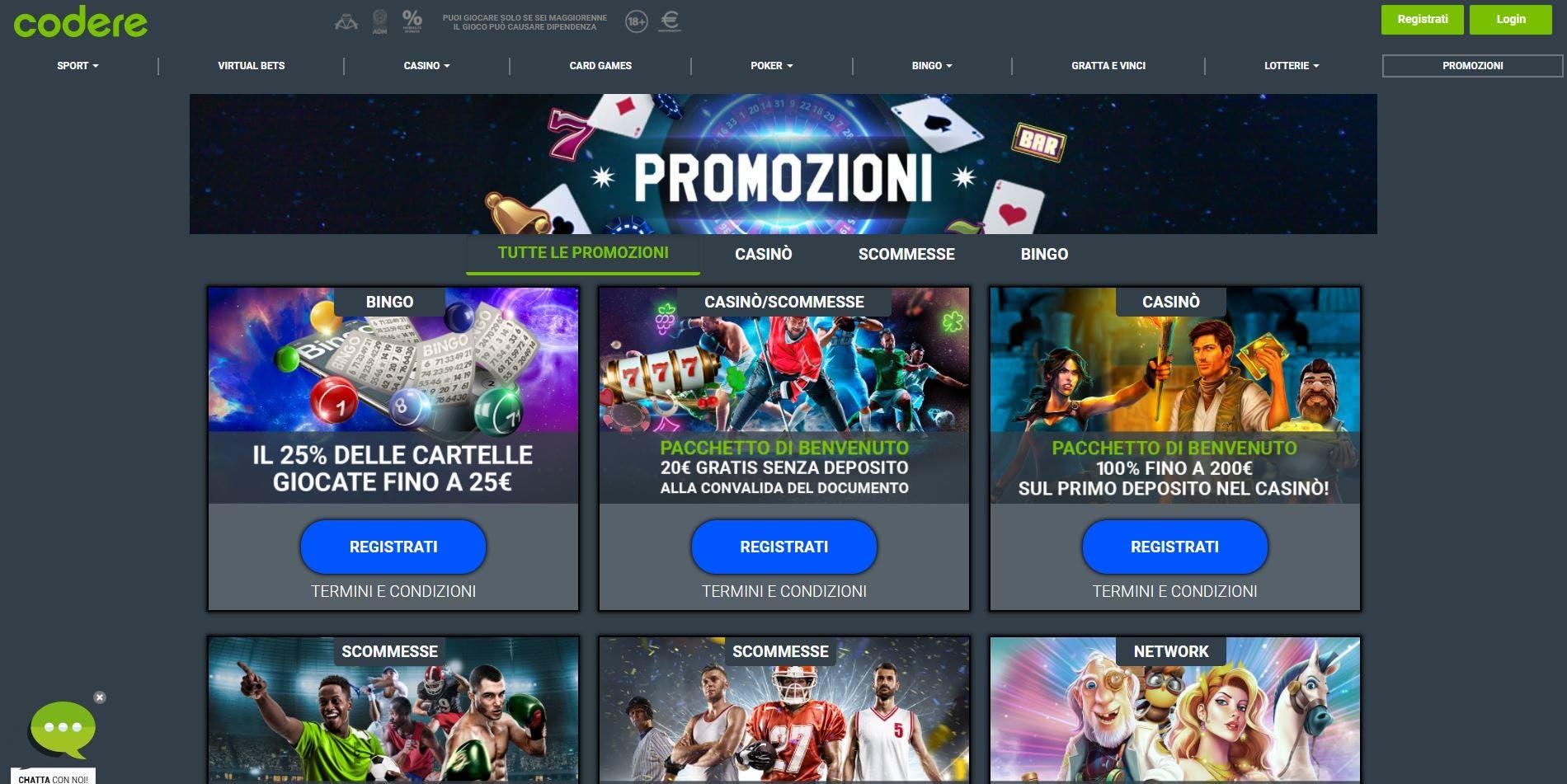 Nuove Offerte Bonus e Promozioni su Codere
