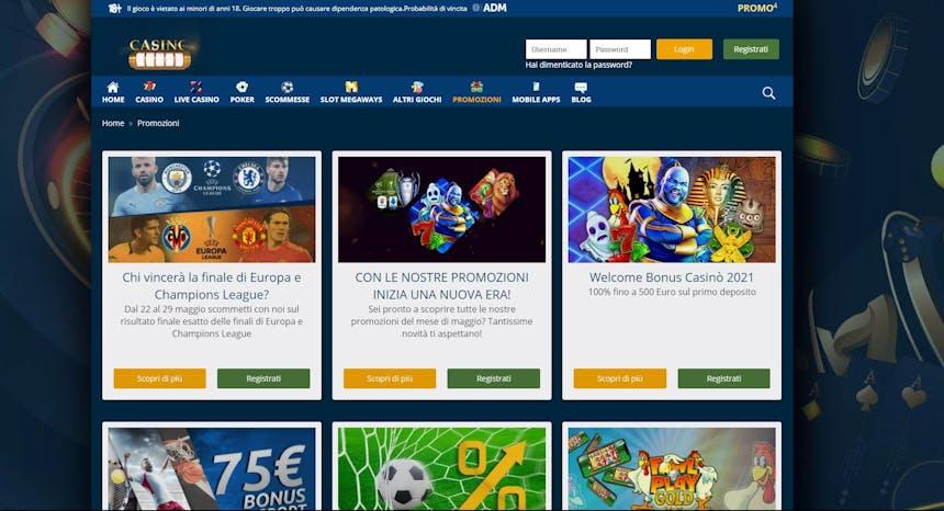 Nuove Offerte Bonus e Promozioni su CasinoMania