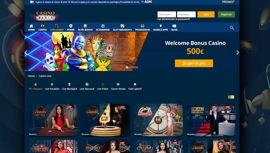 L'innovativo casino di CasinoMania offre numerosi tavoli verdi virtuali in tempo reale