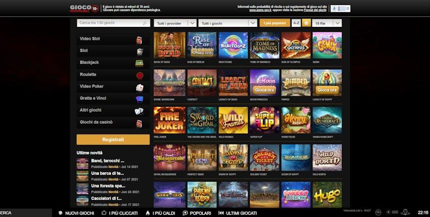 Slot online con Videoslots