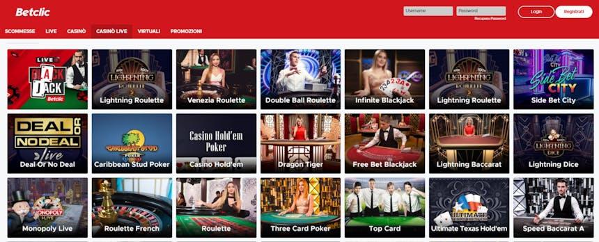 L'innovativo casino di Betclic offre numerosi tavoli verdi virtuali in tempo reale