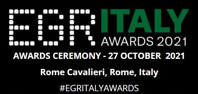 EGR Italy Awards 2021 al via il 27 ottobre